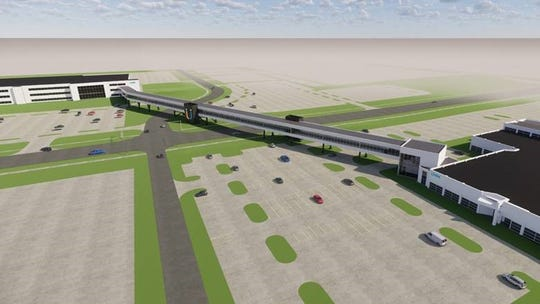 The record-breaking bridge would feature moving walkways.