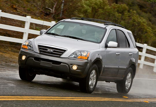 The 2009 Kia Sorento, shown, is part of a joint recall between Kia and Hyundai.