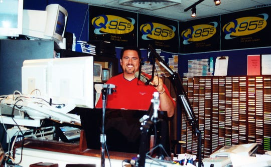Here's Mojo in the Mojo in the Morning radio booth from the first year of the show, 2000.