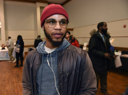 Jermarco Holloway, 26, of Detroit, talks about his job search and the type of employment he is seeking.