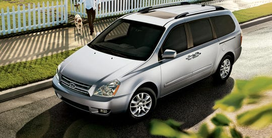 The 2010 Kia Sedona, shown, is part of a joint recall between Kia and Hyundai.