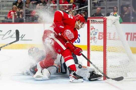 Red Wings forward Andreas Athanasiou could be Detroit's most valuable trade commodity.