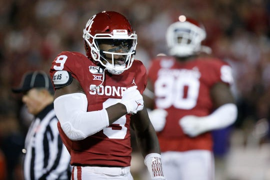 Oklahoma linebacker Kenneth Murray was a playmaking machine the past two seasons, racking up 257 tackles (29.5 for a loss) and 8.5 sacks in 27 games.