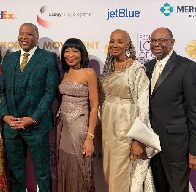 Billionaire Robert Smith with Vivian Pickard, Susan Taylor and William Pickard at gala in New York.