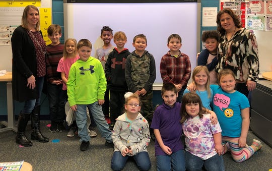 Stacie Gillum's second grade class won the Penny Challenge to benefit Joyful Connections.