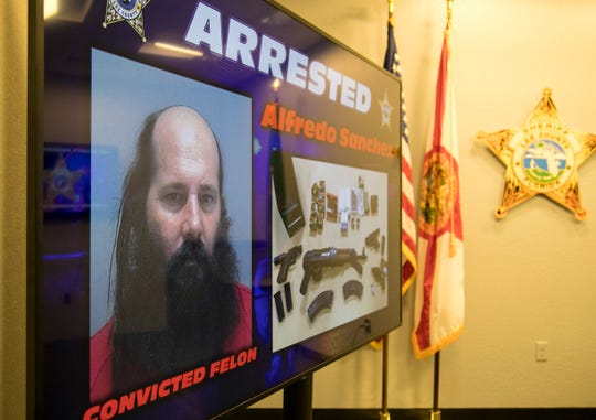 Convicted felon Alfredo Sanchez was arrested for making a shooting threat against a Fort Myers synagogue.