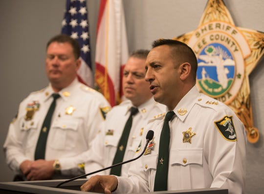 Lee County Sheriff Carmine Marceno speaks Thursday about the arrest of Alfredo Sanchez, who made a shooting threat against a Fort Myers synagogue.