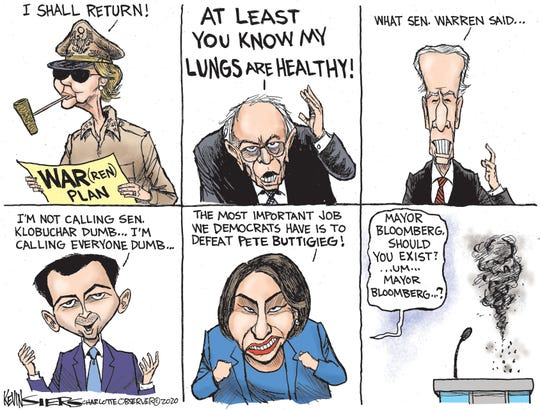 Democrats debate in Las Vegas.