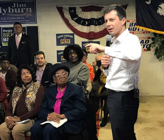 Pete Buttigieg, former mayor of South Bend, Indiana, seen here at a 2019 appearance in Allendale, has raised the second-highest donation total from contributors in the Upstate.