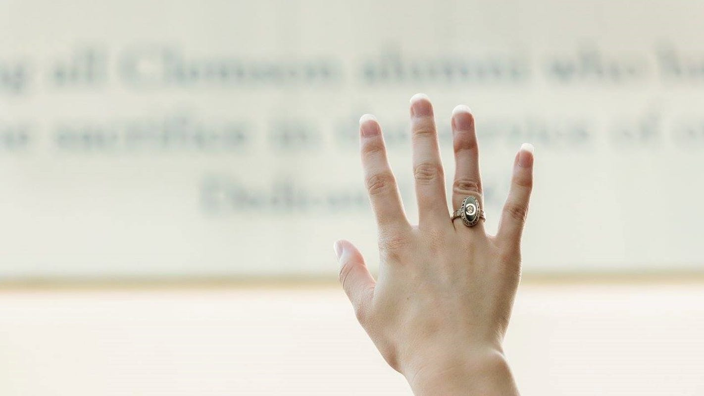 She found someone's lost Clemson ring. Then someone else found hers.