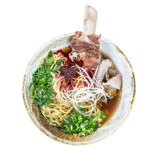 One of Hokkido Ramen and Sushi Bar's most popular entrees is the Spicy Beef Ramen shown here