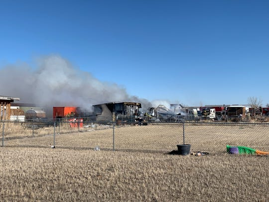 Fire crews were fighting a structure fire on Cleveland Drive in Sun Prairie Thursday afternoon.