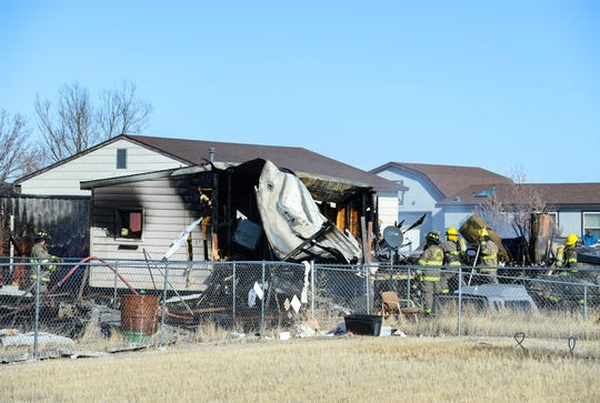 A fire on Thursday afternoon destroyed the home at 1449 Cleveland Drive in Sun Prairie.