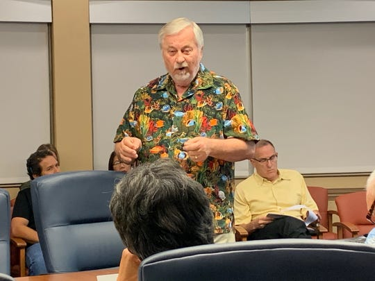 Larry Gawlik, utilities consultant for Georgetown Consulting Group, on Feb. 19 gives the Public Utilities Commission information about a stipulated agreement that would increase water rates 5%. Gawlik said the Guam Waterworks Authority loses about 55 percent of the water it produces, which ultimately costs customers millions of dollars each year.