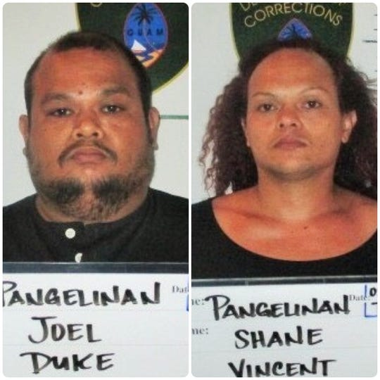 Joel Duke Pangelinan and Shane Vincent Pangelinan are shown in this combined photo.
