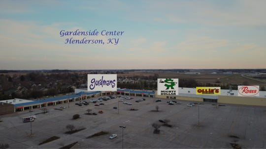 This furnished image shows the layout of new stores for the Gardenside Shopping Center on Zion Road in Henderson.