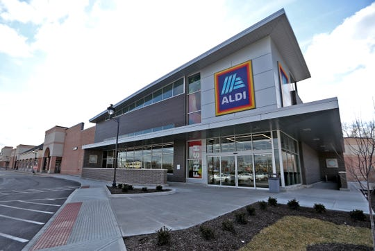 An Aldi operates in the former Marsh building at 82nd St. and Allisonville, Thursday, Feb. 20, 2020.