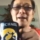 Michael Lee, owner of Hamburg Inn, holds up his University of Iowa mug during a FaceTime call with Iowa City Press-Citizen reporter Aimee Breaux. Lee has been in voluntary quarantine at his Shanghai home for more than 20 days.