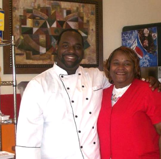 Chef Donovan Barner (left) and Glenda Cage Barner (right) inside Sugar's Place in Jackson.
