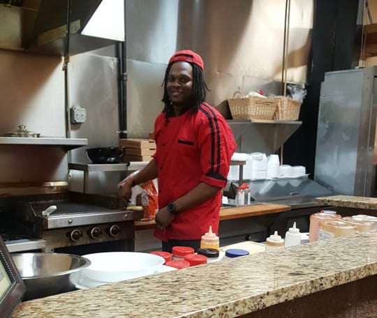 Chef Mike Mosley at 1693 Red Zone in Jackson.