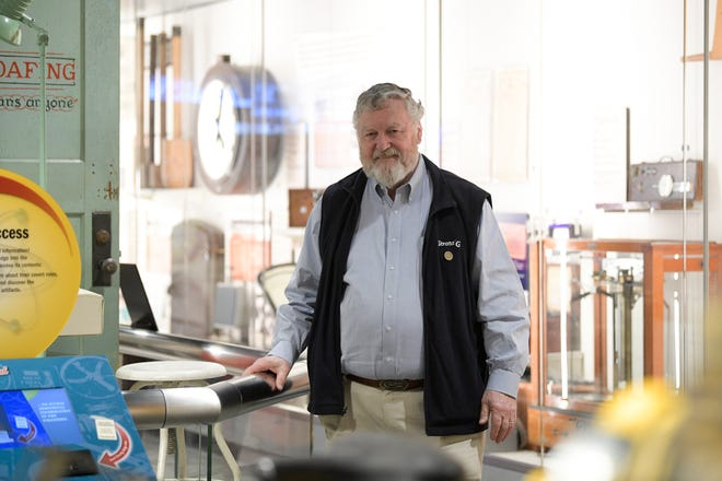 Oak Ridge historian Ray Smith poses for a portrait at the K-25 History Center in Oak Ridge, Tenn. on Wednesday, Feb. 19, 2020. The once secret K-25 complex was part of the Manhattan Project and Cold War. The museum tells the story of the facility which was used to enrich uranium.