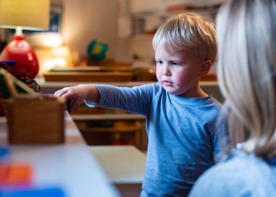 Evan Goodwyn at the Ashton Grace Montessori School,. Wednesday, Feb. 19, 2020.