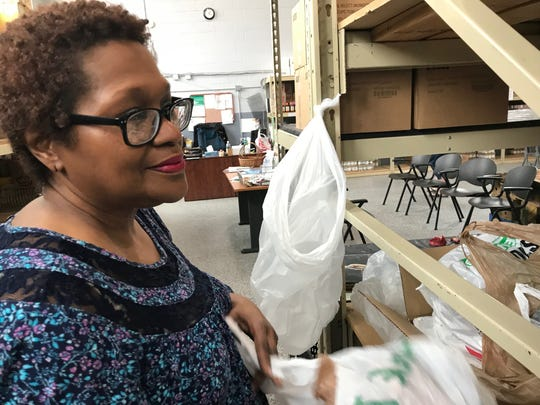 Deidrua Getz said she volunteers at the Lancaster-Fairfield County Community Action Agency food pantry because she enjoys helping people.