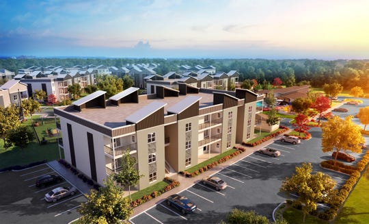 Two-bedroom apartments along Cedar Creek Road and Bardstown Road will cost roughly $1,200 per month.