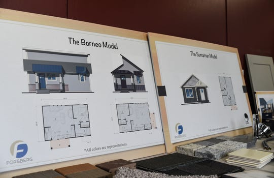 House design plans for homes being built at Eaton Village, a pocket neighborhood currently under construction on Haven Street in Eaton Rapids.