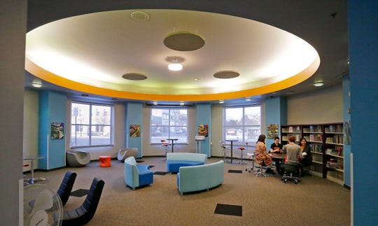 The hangout area for teens at the Manitowoc Public Library as seen, Wednesday, February 19, 2020, in Manitowoc, Wis.