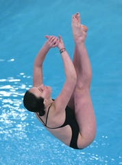 Lexington sophomore Anna Parr finished 15th to earn All-Ohio honors in Wednesday's 1 meter diving competition at the state swim meet in Canton's C.T. Branin Natatorium.