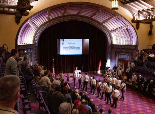Buckeye Council of Boy Scouts honor 143 recipients of its Eagle Scout Award during the 62nd Annual Eagle Recognition Event at the Canton Masonic Temple on Sunday, Jan. 26, 2020.
