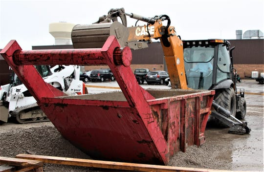 Students in the construction trades academy at Tri-Rivers Career Center in Marion have the chance to train with heavy equipment on a regular basis.