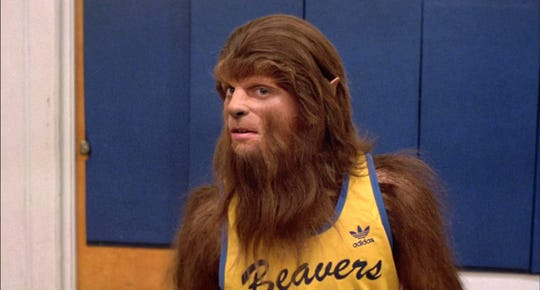 """He's the hairy-handed gent who ran amuck in high school: Michael J. Fox stars in """"Teen Wolf,"""" which screens Thursday at the Studio on the Square."""