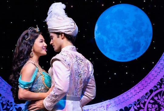 "Kaena Kekoa is Jasmine and  Jonah Ho'okano is Aladdin in the touring production of ""Disney's Aladdin."""