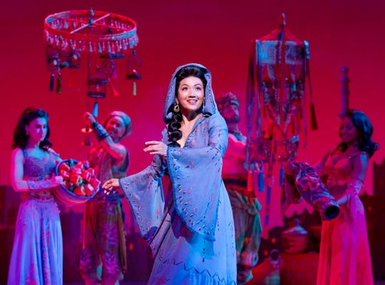 "A new form of Jasercize? Kaena Kekoa is Princess Jasmine in ""Disney's Aladdin."""
