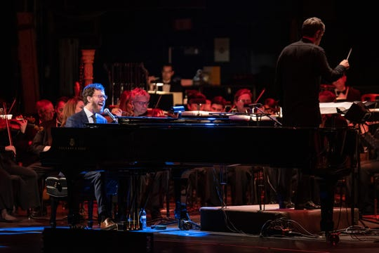 Ben Folds performs with the Milwaukee Symphony Orchestra at the Riverside Theater on Wednesday, February 19, 2020.