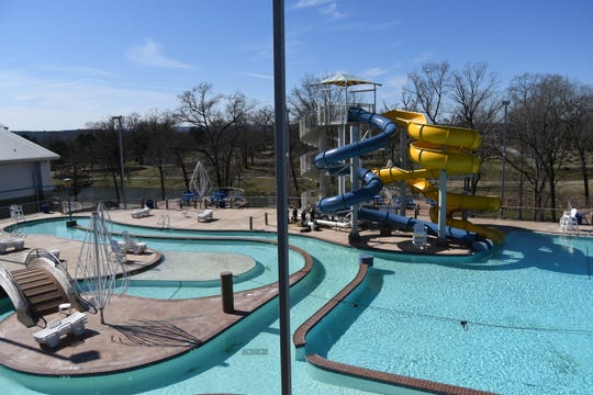 The lazy river and two 25-foot tall water slides are seen Wednesday at Batesville's Community Center and Aquatic Park.