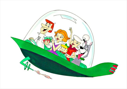 """Artwork from """"The Jetsons"""" by longtime animator Ron Campbell, who will be in Montgomery on Feb. 21-23 at Stonehenge Gallery."""