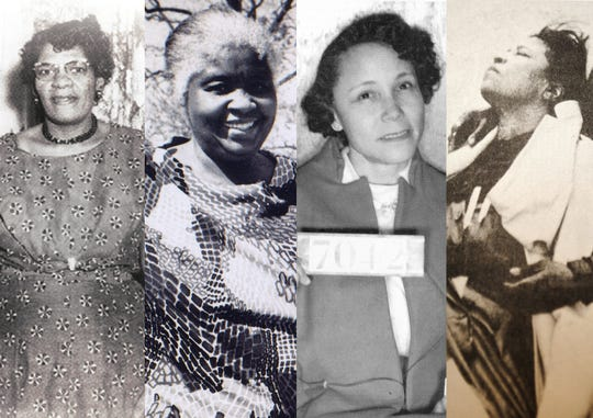 From left, Aurelia Browder, Georgia Gilmore, Jo Ann Robinson, and Amelia Boynton are a handful of the many black women who worked for civil rights.