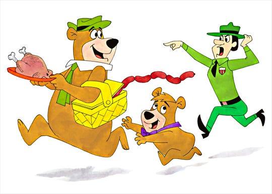 "Yogi Bear runs off with someone else's ""pick-a-nick"" basket"