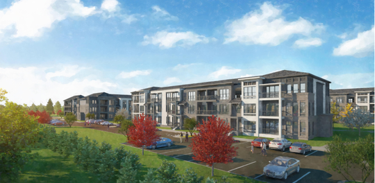 This rendering shows plans for the Arris Apartments that will add 168 dwellings on the north side of Murfreesboro off Memorial Boulevard and Eleanor Way.
