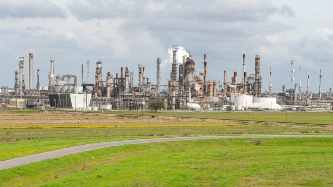 The Shell Convent oil refinery in St. James Parish on Tuesday, Feb. 11, 2020.