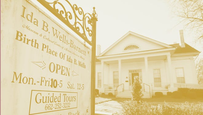 The Ida B. Wells-Barnett Museum in Holly Springs, Mississippi. Holly Springs native Ida B. Wells-Barnett was an African-American journalist and co-founder of the National Association for the Advancement of Colored People.