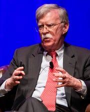 John Bolton, former national security adviser and ambassador to the United Nations, speaks during the Vanderbilt Chancellor's Lecture Series event at Vanderbilt University's Langford Auditorium Feb. 19 in Nashville.