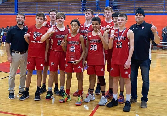 The Fairview Middle School basketball team recently competed in the TMSSA AA state championship game for the first time in the school's history, snagging the state runner-up trophy.