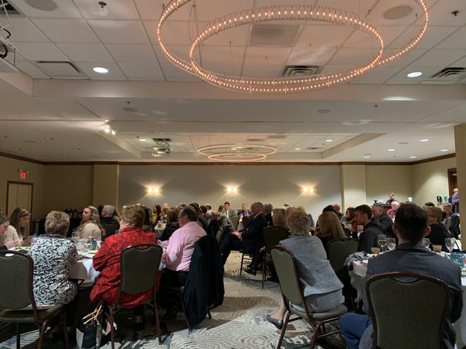 A small crowd gathered at the Newark DoubleTree Hotel on Wednesday, Feb. 19, 2020, for the Licking County Republican Women's Meet the Candidates Night.