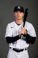 New York Yankees Zack Granite (74) poses for a photo during media day on Thursday, Feb. 20, 2020 in Tampa, Fla.