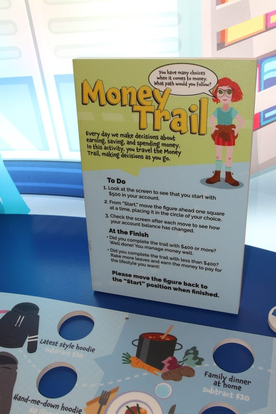 "Games, videos, touch screens and other visual displays are part of the ""Thinking Money for Kids"" exhibition at the Farmington Public Library."