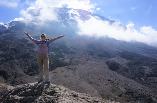 Sara Sarafa during her trip to the top of Mount Kilimanjaro.